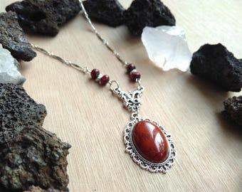 Red Jasper Medallion necklace