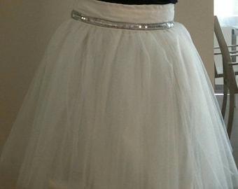Wedding: Belt sequin tulle skirt