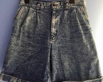 90s Grunge Acid Wash Shorts