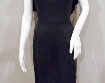 1950's Little Black Dress Cocktail Dress Edith Small Size Dress Size 6-8