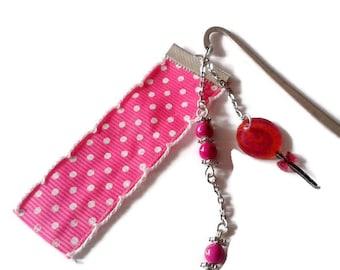 Pink Lollipop, silvered metal bookmarks