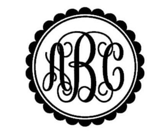 Monogram Decals, Custom decal monogram, Vinyl Monogram, Vinyl, Decals, framed monogram,yeti decal, vinyl gifts, gifts for her, monograms