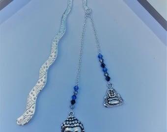 "Bookmark ""2 Buddhas"" blue"
