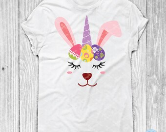 Happy Easter Bunny Unicorn SVG, PNG, DXF, Eps Cutting Files, Easter Svg, Unicorn Svg, Easter Eggs Svg, Kids Easter svg, Rabbit Svg Cut File