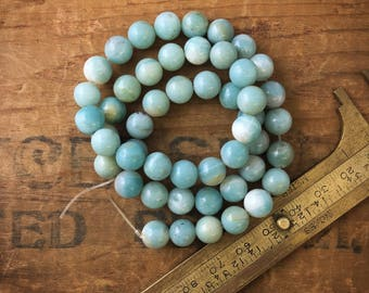 8mm Light Blue Round Amazonite Beads S11