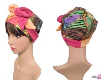 "REVERSIBLE hat ""Alizée"" & two-tone hard headband"