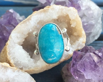 Turquoise Pyrite Ring Sterling