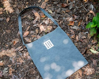 Gray Eco Bag(Charcoal dying) for Beautiful World / Natural Dying
