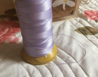 Lilac macrame cord or wire. 0.5 mm.