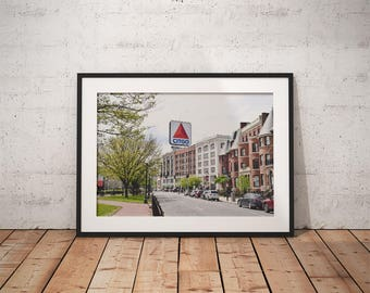 Citgo Sign, Boston MA, Massachusetts, Red Sox, city, wall decor, photograph, canvas, sign, city scape, city life