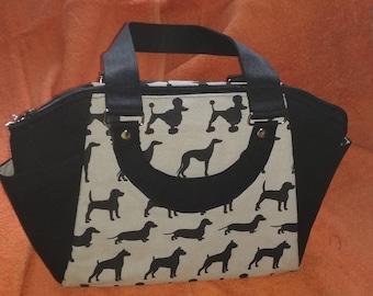Dog design handbag