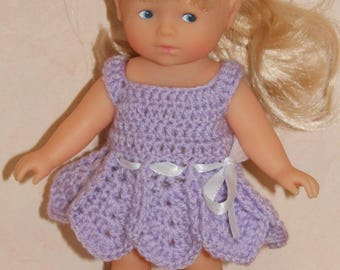 dress made for mini corolline Doll or similar doll crochet