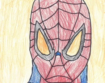 Spiderman Art Print 8.5x11