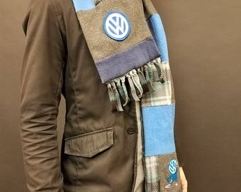 Patchwork Volkswagen Polar Fleece Scarf
