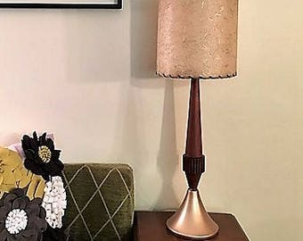 Mid Century Table Lamp with Fibre Glass Shade