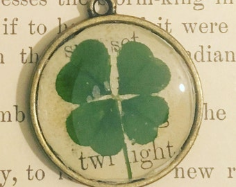 twilight, four leaf clover pendant
