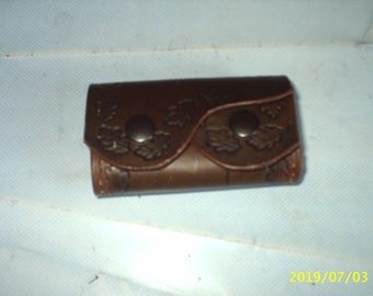 small coin purse made of real leather