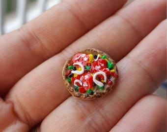 Handmade Pizza Clay Miniature