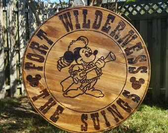 CUSTOM (2 sided) Fort Wilderness Campground Family Sign