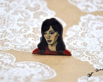 Anna Karina Une Femme Est Une Femme Pin   A Woman is a Woman Pin   Godard Film Pin