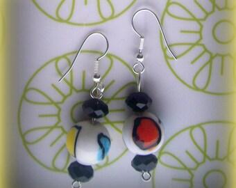 IN Italian glass earrings * gorgeous!