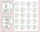 RAE INSPIRED MUG | Planner Stickers  | Sarcastic | Coffee | Mugs | Erin Condren | Tn | S59