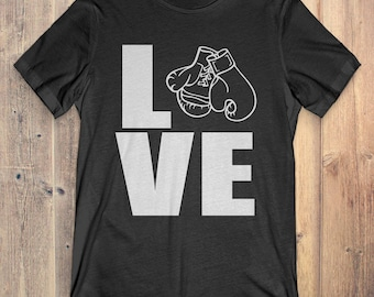 Boxing T-Shirt Gift: Love Boxing
