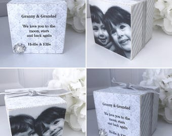 Personalised Photo Cube Grandparents P284