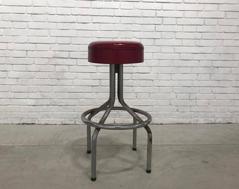 Red American Stool