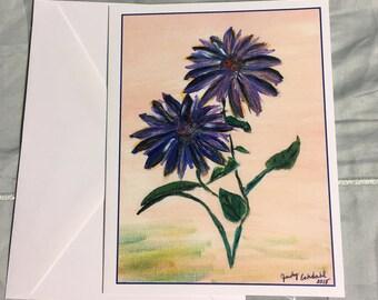 Note Card Purple Flower 3