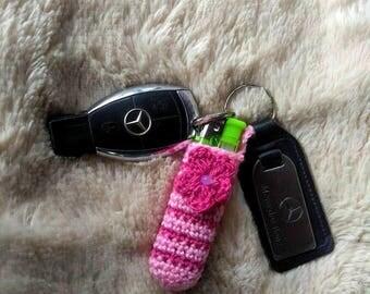 Lighter Case, Crochet Lighter Holder,Crochet Pouch, Crochet for smokers,Crochet Keychain Lip Balm Holder,