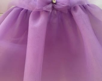Purple tutu, tulle skirt for baby