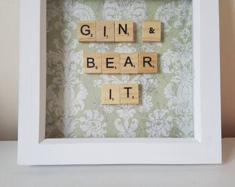 "Frame gift ""Gin and bear it"""