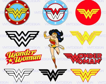 Wonder Woman svg - Wonder Woman logo svg - Wonder Woman clipart - Wonder Woman clip art - Digital files download svg, png, pdf, eps, jpg