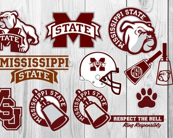 Mississippi state Bulldogs SVG, mississippi state svg, DXF cutting file, Printable, T-shirt Design, Scrapbooking Clipart