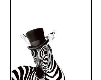 Zebra Hat Print
