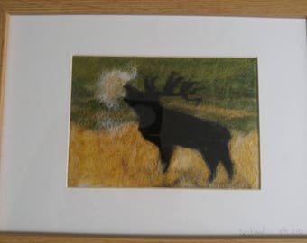 Stag,  needle felted wool art