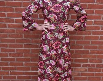 vintage 1970's kaftan dress