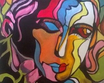Original abstract painting by Portland, Oregon artist Joseph Cardinal