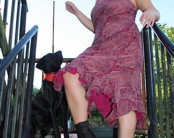 Pilton Princess halter neck paisley patterned dress