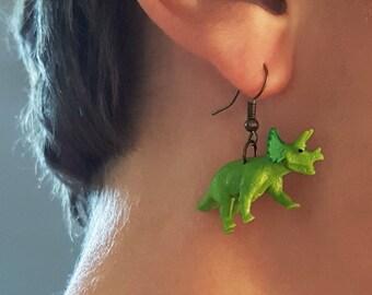 Triceratops Drop Earrings