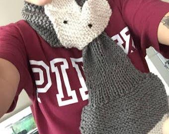 Knit Fox Scarf