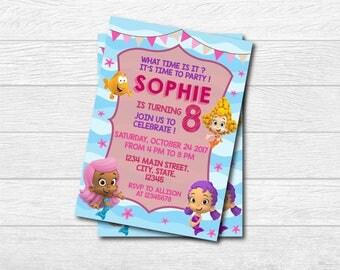 Bubble Guppies Invitation, Bubble Guppies Invite, Bubble Guppies Birthday Party, Bubble Guppies, Digital, Bubble Guppies Party, Bubble