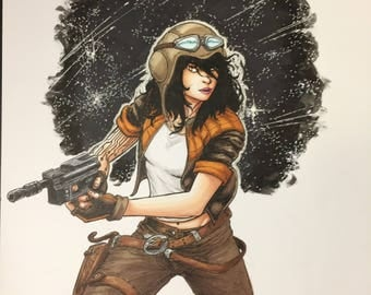 Star Wars Doctor Aphra illustrated by Sergio Azevedo