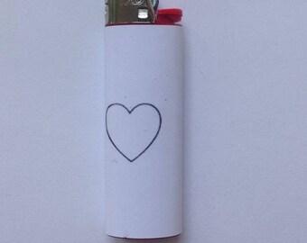 Simple Heart BIC lighter