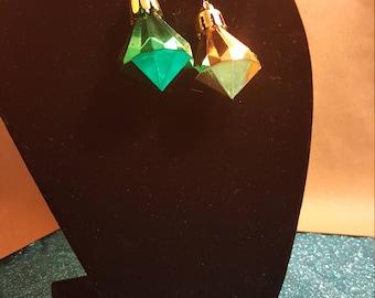 Gold/Green Earrings