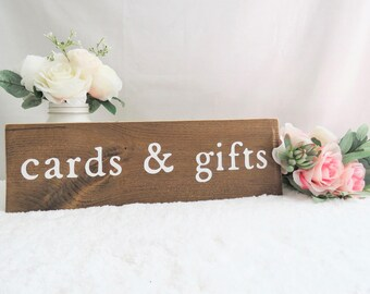 Cards and Gifts Wedding Sign. Wedding Cards and Gifts Sign. Gift Table Sign. Wooden Wedding Sign. Cards and Gifts Rustic Sign. Wedding Sign