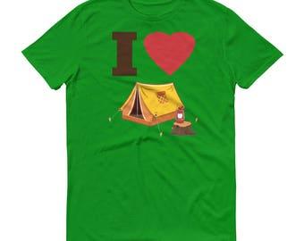 I Love Camping Short-Sleeve T-Shirt