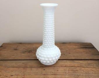 Milk Glass Vase - Hobnob
