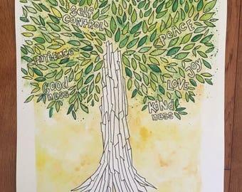 Fruits of the Spirit Scripture Art Print